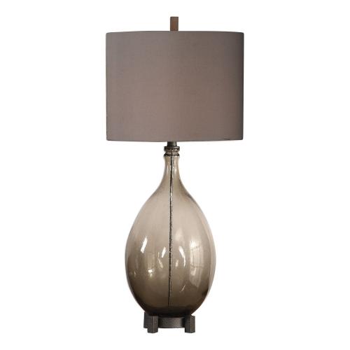 Saimara Glass Lamp - Charcoal