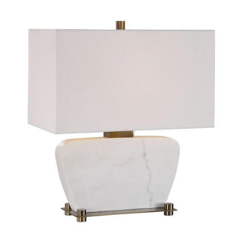 Genessy Table Lamp - White Marble