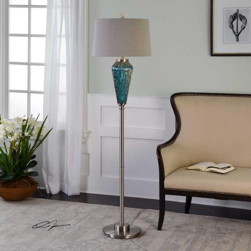 Almanzora Blue Glass Floor Lamp