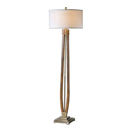 Boydton Burnished Wood Floor Lamp