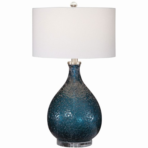 Eline Table Lamp - Blue Glass
