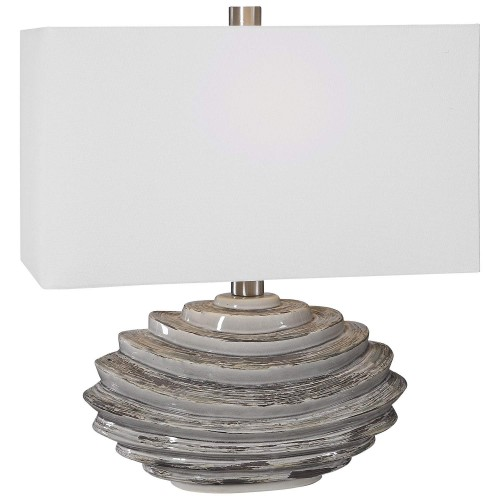 Talucah Table Lamp - Gray