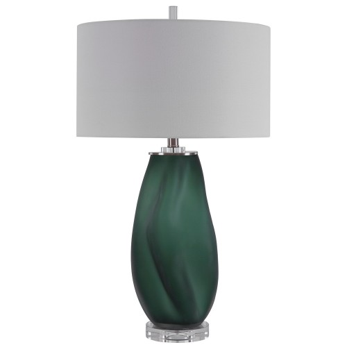 Esmeralda Glass Table Lamp - Green