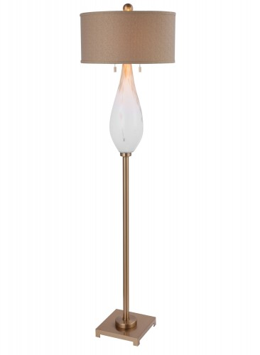 Cardoni Glass Floor Lamp - White