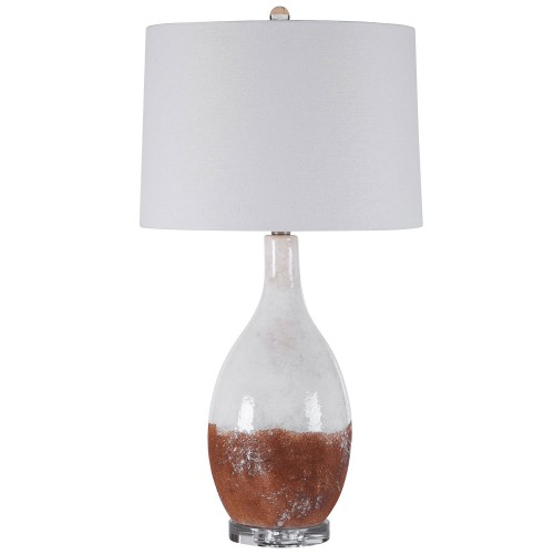 Durango Table Lamp - Rust White