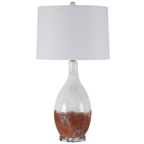 Durango Table Lamp - Rust White