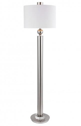 Silverton Floor Lamp - Brushed Nickel