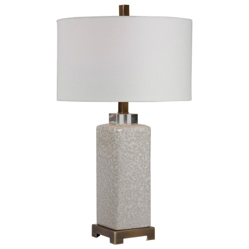 Irie Crackled Table Lamp - Taupe