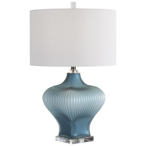 Marjorie Frosted Table Lamp - Turquoise