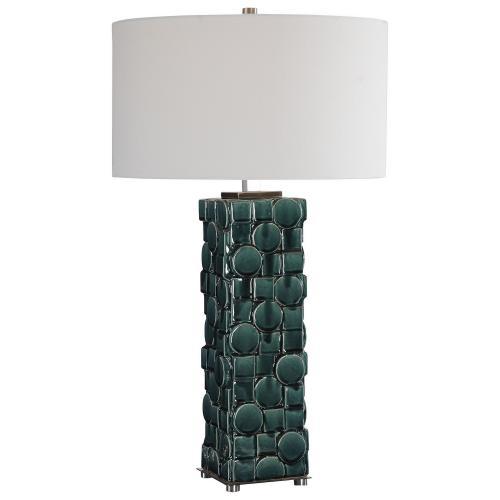 Geometry Table Lamp - Green