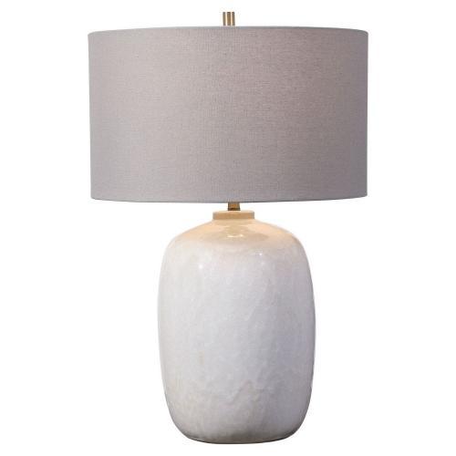 Winterscape Glaze Table Lamp - White