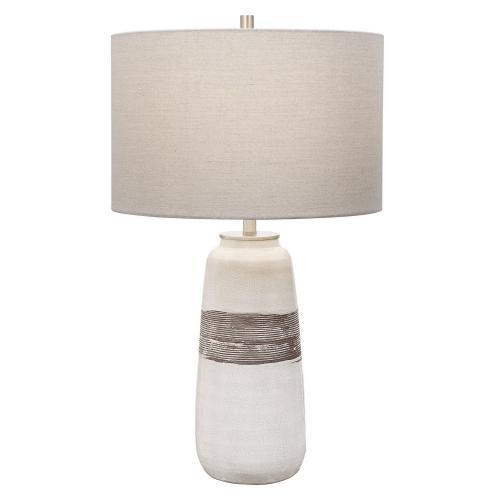 Comanche Crackle Table Lamp - White