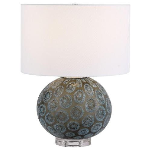 Agate Table Lamp - Slice Charcoal