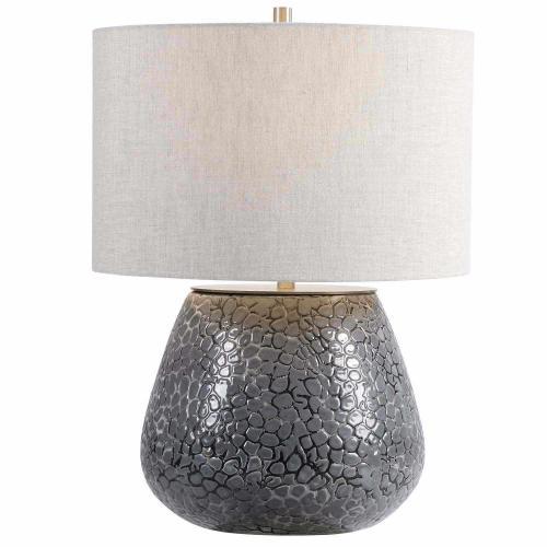 Pebbles Table Lamp - Metallic Gray