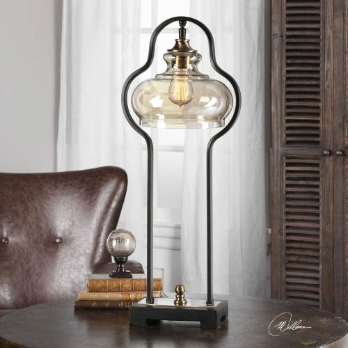 Cotulla Aged Black Desk Lamp
