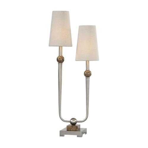 Claret 2-Light Lamp - Nickel