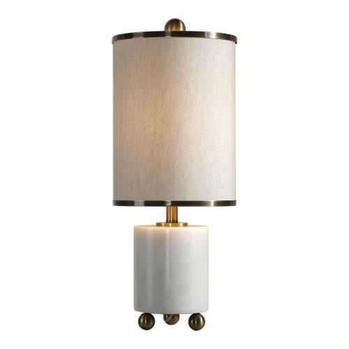 Meelagh Lamp - White Marble