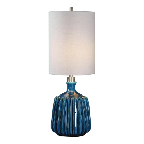 Amaris Ceramic Lamp - Blue