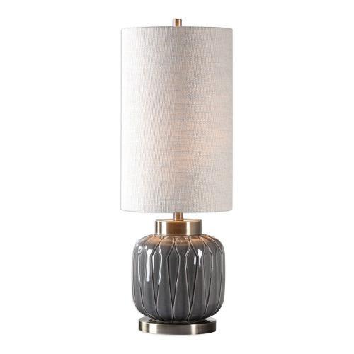Zahlia Ceramic Lamp - Aged Gray