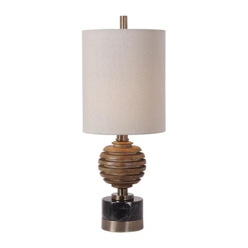Anatola Wood Sphere Buffet Lamp