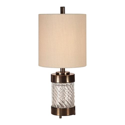 Thorton Spiral Glass Buffet Lamp