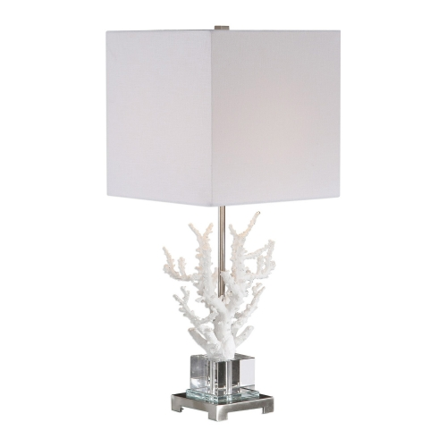 Corallo Coral Table Lamp - White