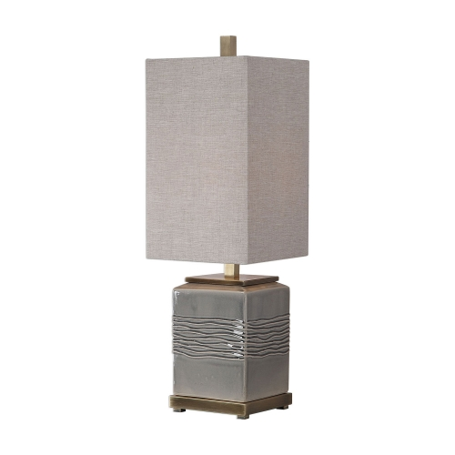 Covey Buffet Lamp - Gray Glaze