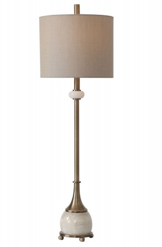 Natania Buffet Lamp - Plated Brass