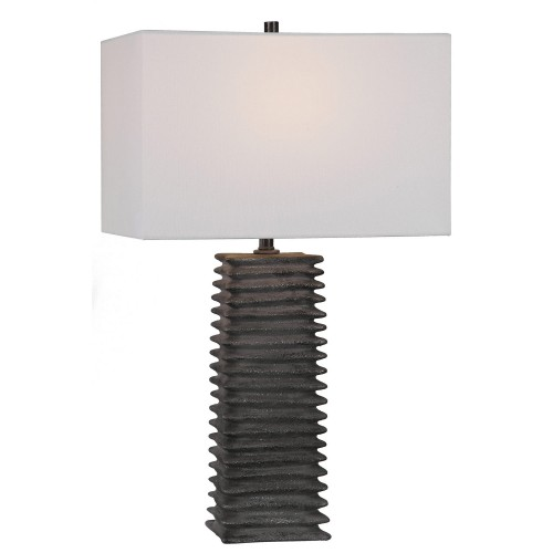 Sanderson Metallic Table Lamp - Charcoal