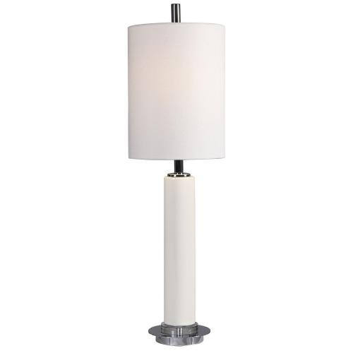 Windsor Crackle Buffet Lamp - Ivory