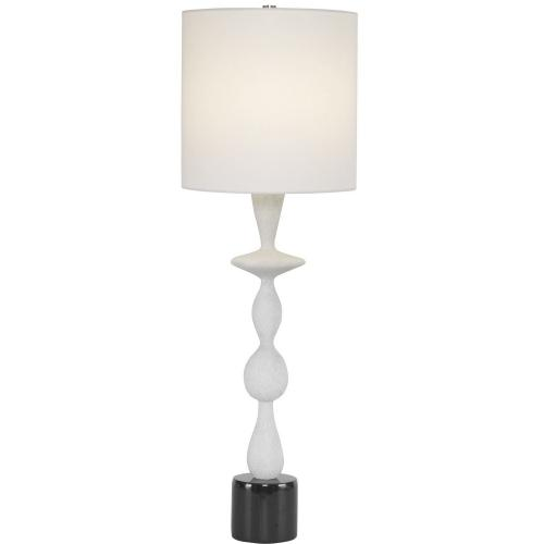 Inverse Marble Table Lamp - White