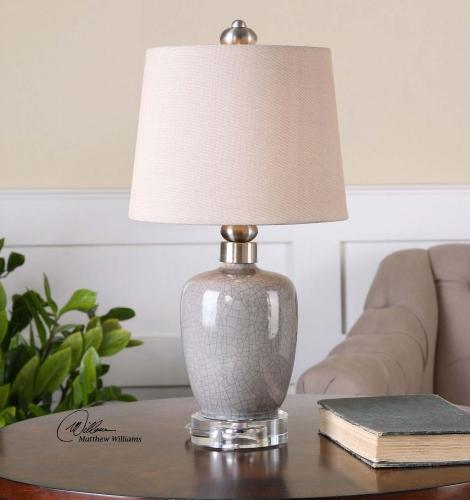Ovidius Mini Crackle Gray Table Lamp