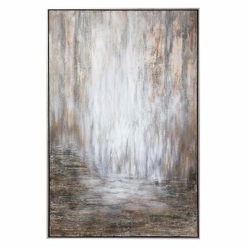 Desert Rain Hand Painted Abstract Art