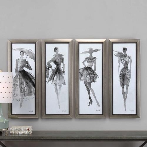 Fashion Sketchbook Art - Set of 4