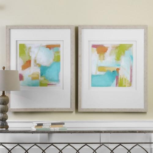 Color Space Watercolor Prints - Set of 2