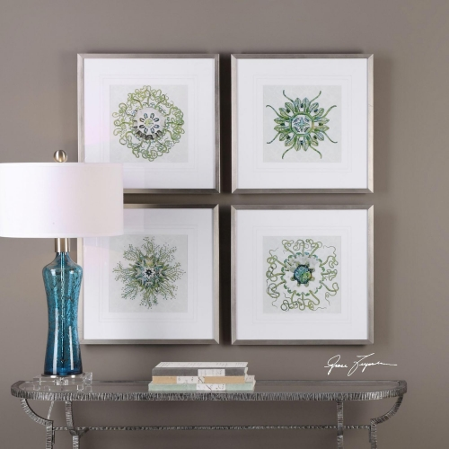 Organic Symbols Print Art - Set of 4