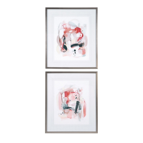 Soft Speak Abstract Prints - Set of 2