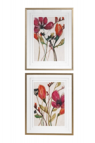 Vivid Arrangement Floral Prints - Set of 2