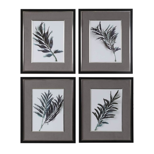 Eucalyptus Leaves Framed Prints - Set of 4