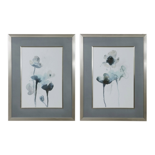 Midnight Blossoms Framed Prints - Set of 2