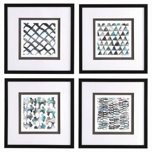 La Mer Framed Prints - Set of 4