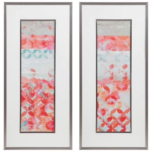 Valentine Framed Abstract Prints - Set of 2