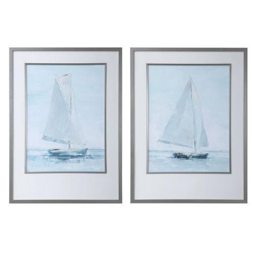 Seafaring Framed Prints - Set of 2