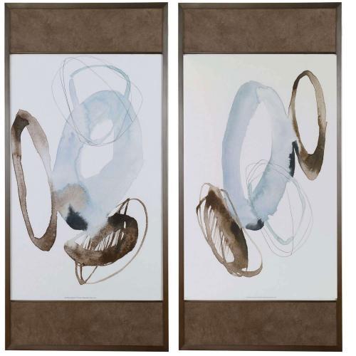 Celestial Modern Framed Prints - Set of 2