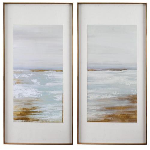 Coastline Framed Prints - Set of 2