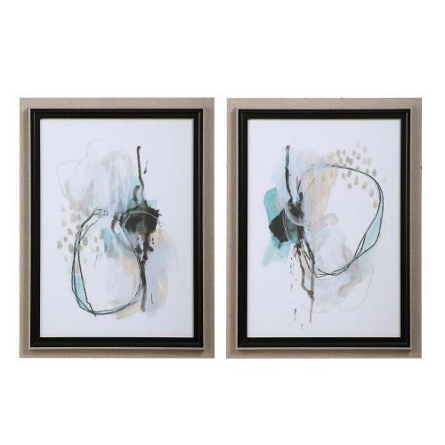 Force Reaction Abstract Prints - Set of 2