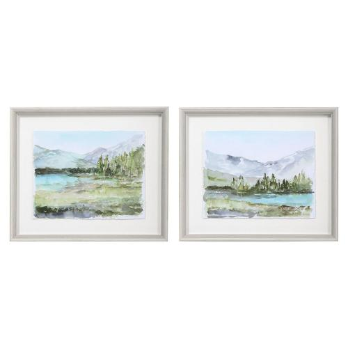 Plein Air Reservoir Watercolor Prints - Set of 2