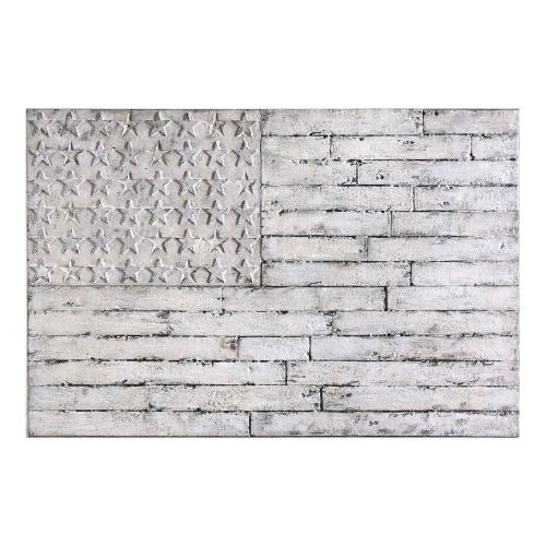 Blanco American Wall Art