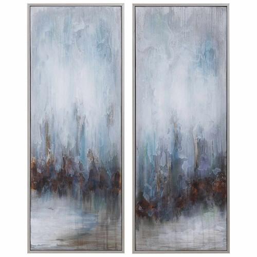 Rainy Days Abstract Art - Set of 2