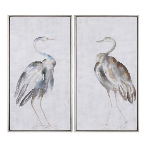 Summer Birds Framed Art - Set of 2